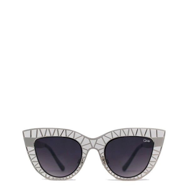 QUAY Australia: Steel Cat Sunglasses in Silver - Luxe Gifts™  - 1