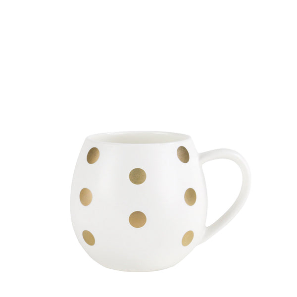 Mini White And Gold Spot Hug Mug
