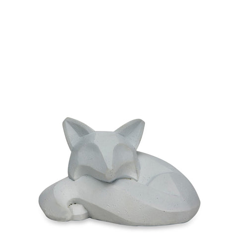Geo Fox Sleeping Grey - Luxe Gifts™