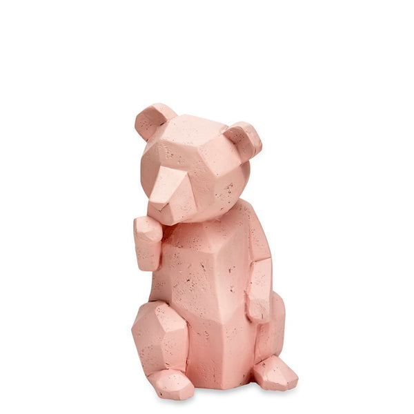Geo Teddy Sitting Pink - Luxe Gifts™