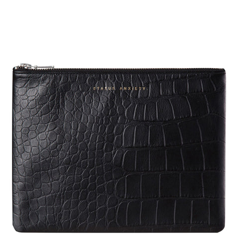 Status Anxiety: Anti Heroine Clutch Black Croc - Luxe Gifts™  - 1