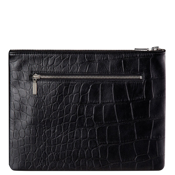 Status Anxiety: Anti Heroine Clutch Black Croc - Luxe Gifts™  - 2