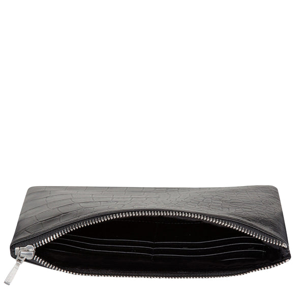 Status Anxiety: Anti Heroine Clutch Black Croc - Luxe Gifts™  - 3