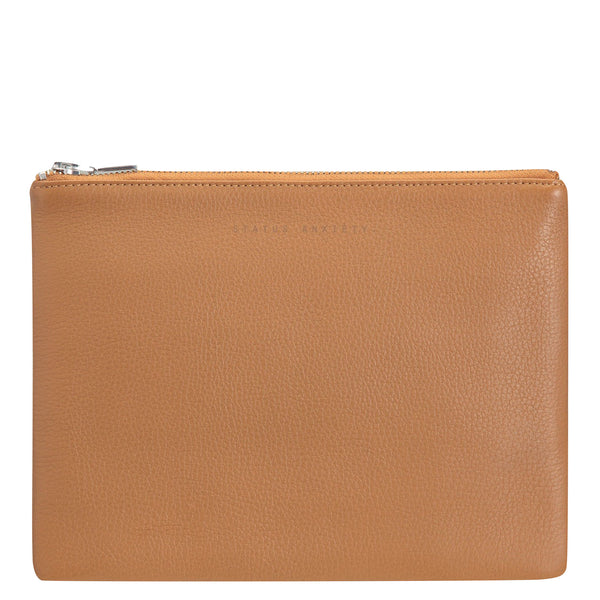 Status Anxiety: Anti Heroine Clutch Tan - Luxe Gifts™  - 1