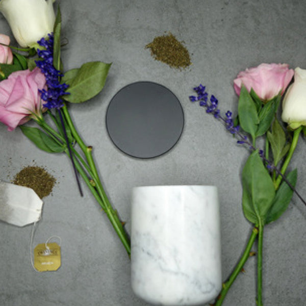 The Luxuriate: Peony Rose Black Marble Candle With Copper Lid - Luxe Gifts™  - 4