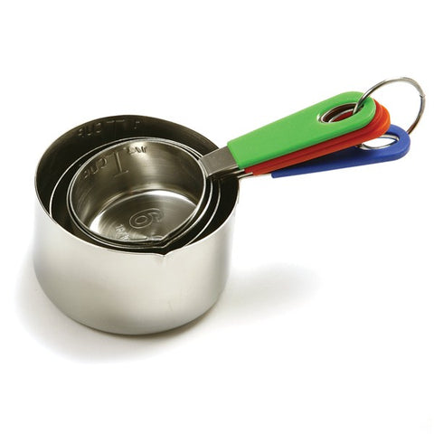 Stainless Steel Measuring Cups with Silicone Wrapped Handles