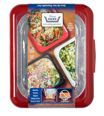 FANCY PANZ Portable Casserole Serveware, for Indoor and Outdoor Use, Bonus Foil Pan Included