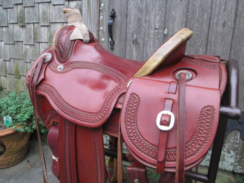 Anders Saddlery A Fork Roping Saddle Ranch Saddle