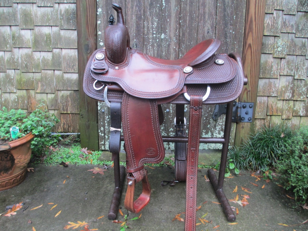Billy Cook Cutting Saddle - Fine Western Saddles