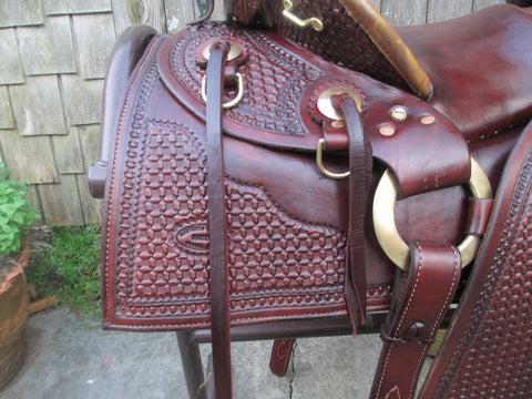Sawtooth Saddle Company Cheyenne Ranch Roping Saddle