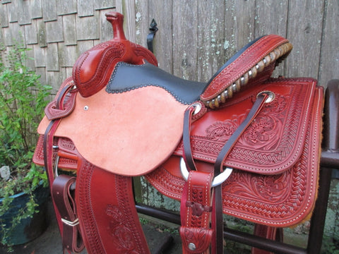 Allgood Custom Leather Will James Roping Saddle (New)