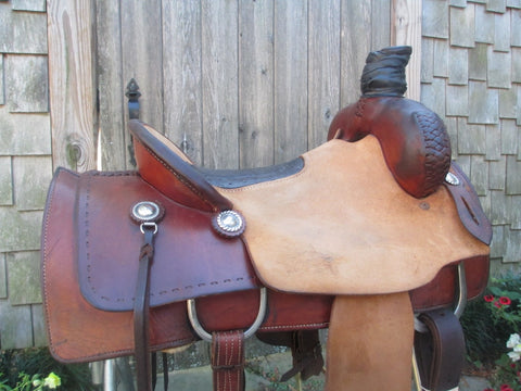 Dennis Overton Roping Saddle