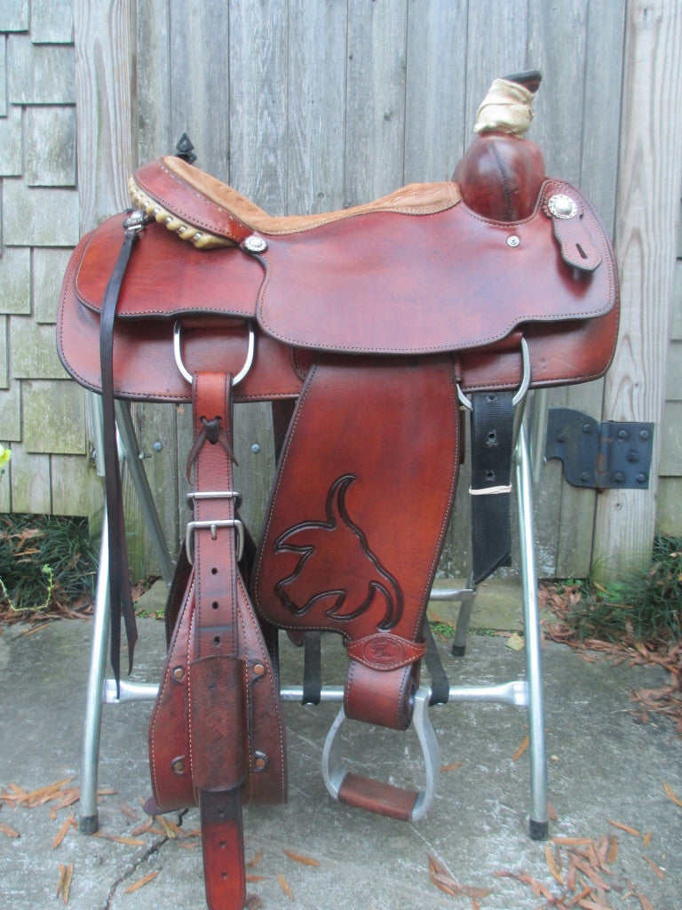 Tod Slone Roping Saddle - Fine Western Saddles