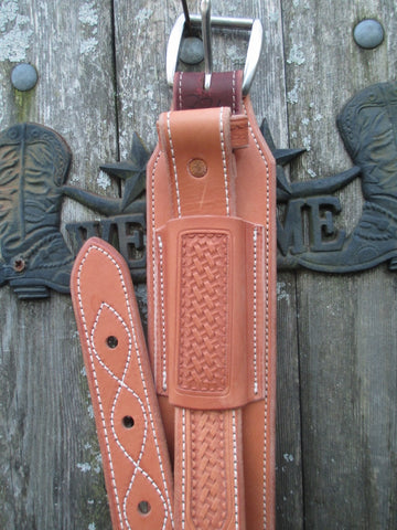 New Bob's Light Oil Basket Stamped Back Girth With Billets