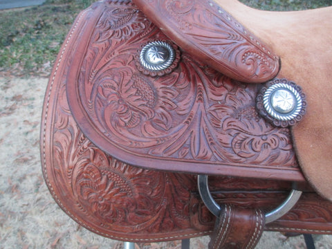 M L Leddy Cutting Saddle By Paul Garcia