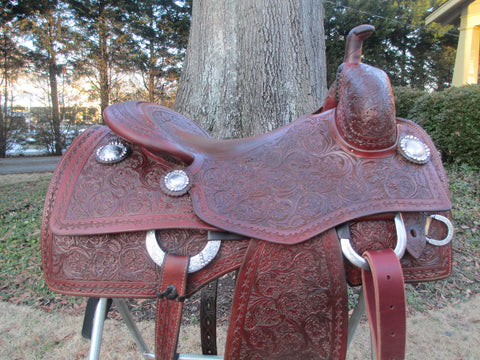 Bob's Fully Tooled Cowhorse Saddle