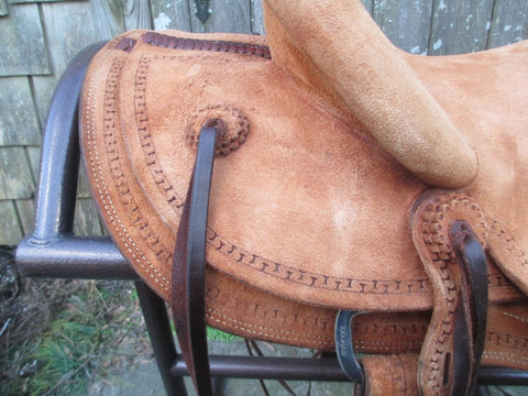 Frecker Wade Tree Roping Ranch Saddle