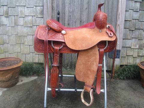 M L Leddy Ranch Cutter Saddle