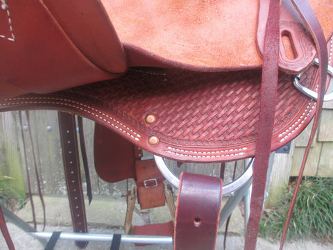 Double C (Charles Crowley) Wade Tree Roping Saddle (NEW)