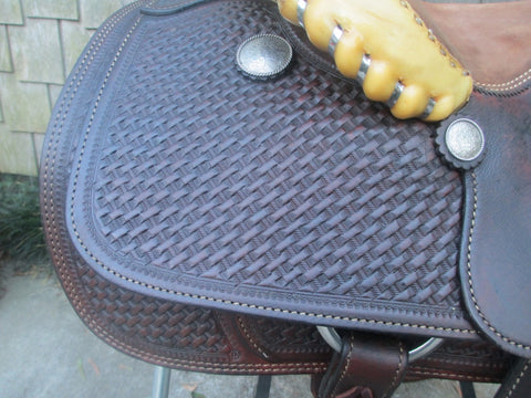 Crates Team Roping Saddle Model 417