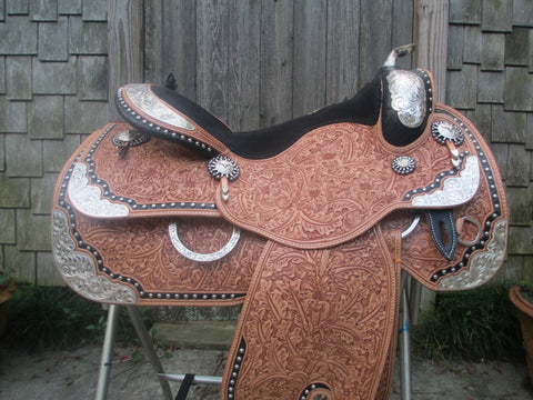 Harris Show Saddle With Silver Horn LIKE NEW