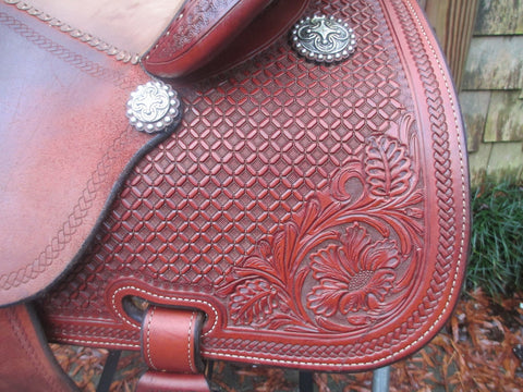 Martin Saddlery Sheri Cervi Crown C Barrel Saddle