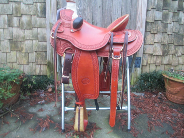 Billy Cook Arbuckle Wade Tree Roping Ranch Saddle Model