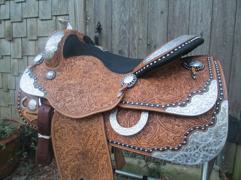 Harris Show Saddle With Silver Horn