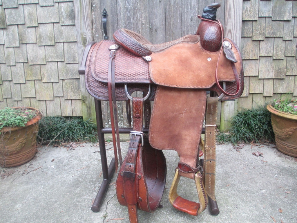 Tod Slone Calf Roping Saddle Built By Shawn Wilke Cuero