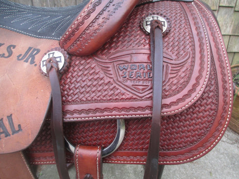 Lazy L (By Larry Coats) Team roping Saddle