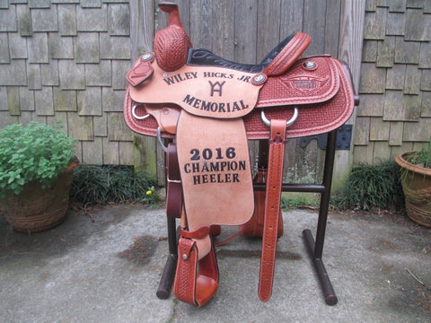 Lazy L (By Larry Coats) Team Roping Saddle (NEW)