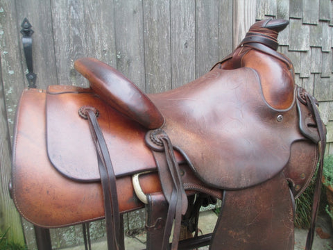 Dale Harwood Trail's End Saddle Shop 3B Ranch Saddle