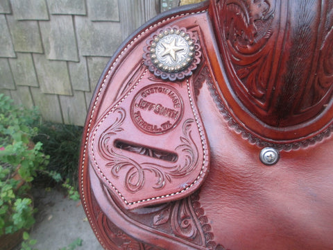 Jeff Smith Team Roping Saddle Built On A Billy Hogg Tree
