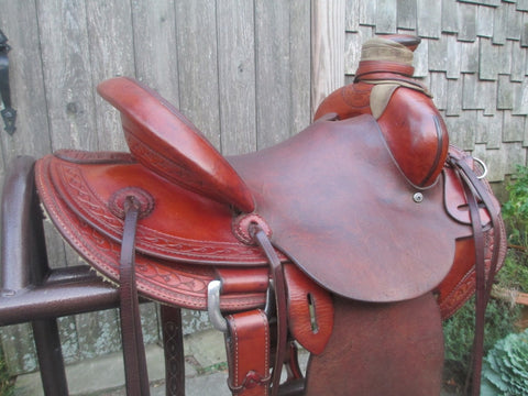 McCall Lady Pendleton Roping Saddle Ranch Saddle