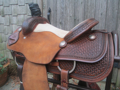 Coats Elite Team Roping Saddle
