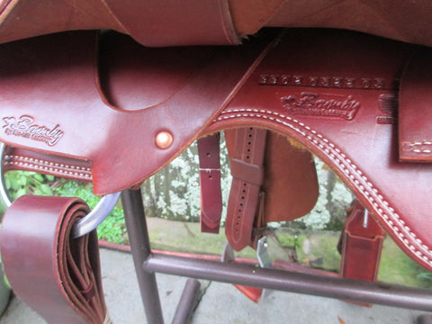 Used Roohide Brumby Cutting Saddle
