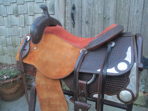 Roohide Reining Cowhorse Show Saddle