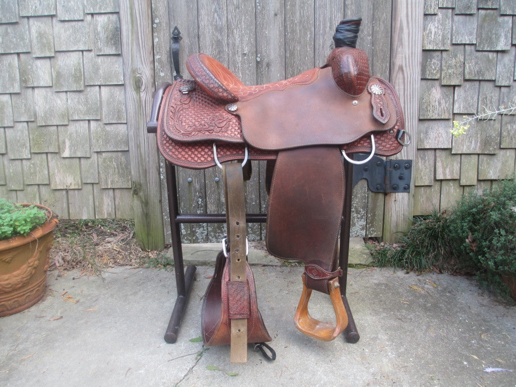Tod Slone Team Roping Saddle - Fine Western Saddles
