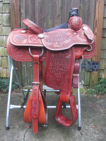 Lazy L (By Larry Coats) Calf Roping Saddle