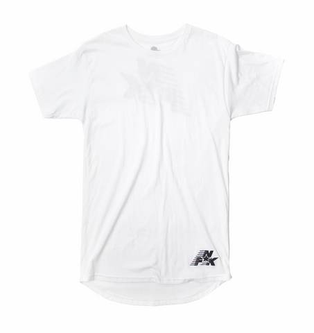 FNK Tall Scoop-Back Tee in White
