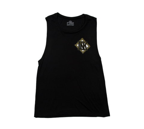 Chains Ladies Sleeveless Muscle Tank