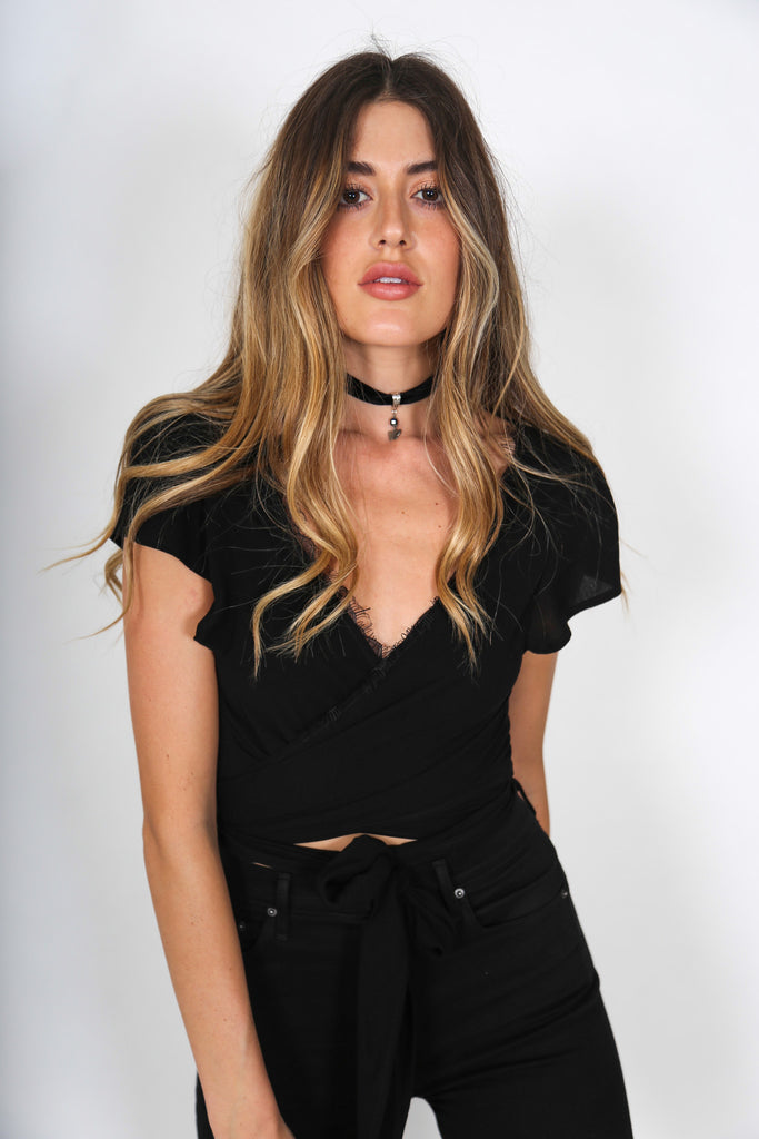 Black Wrap Top