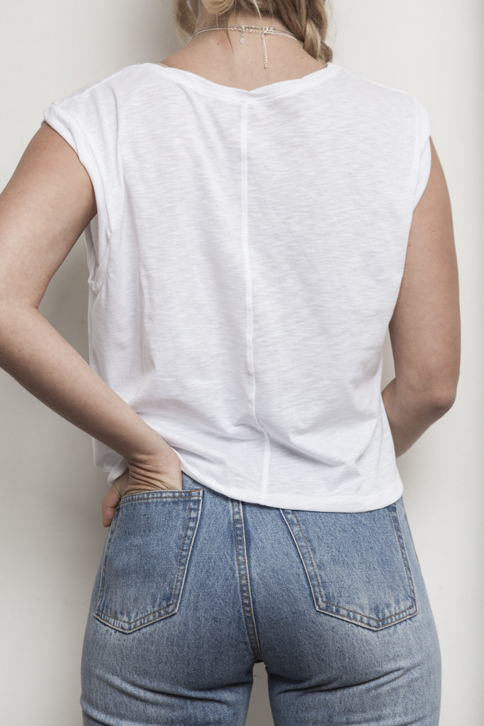 VENICE MUSCLE TEE WHITE