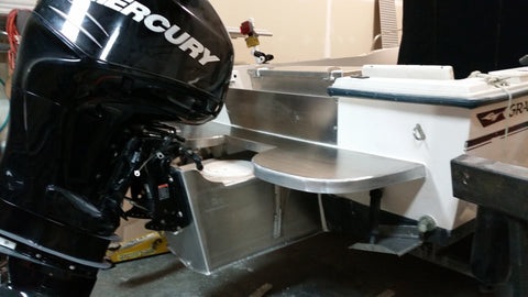Extended Transom with Integrated Swim Step