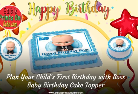 Boss Baby Edible Birthday Cake Topper