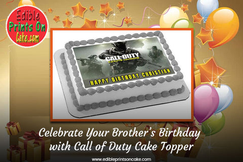 Call of Duty Cake Topper