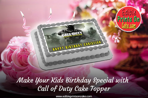 Call of Duty Cake Topper, Call of Duty Cupcake Toppers