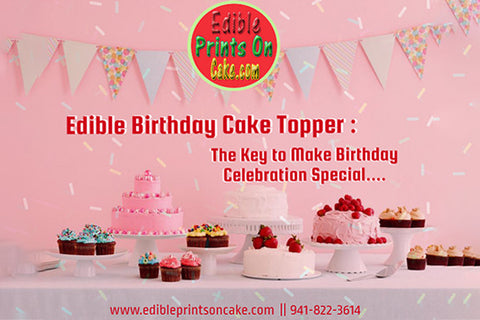 edible birthday cake topper