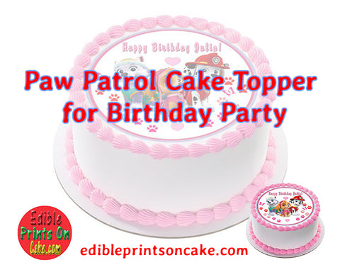 Paw Patrol Cake Topper for Birthday Party