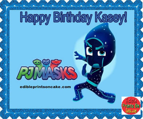 Pj masks edible birthday cupcake topper